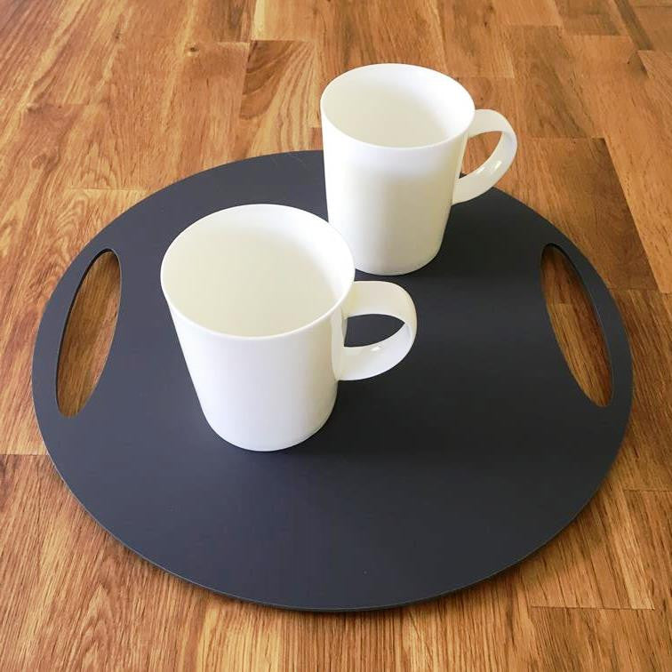 Round Flat Serving Tray - Graphite Grey