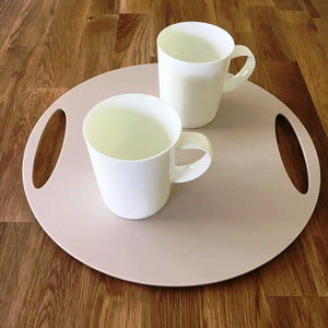 Round Flat Serving Tray - Latte