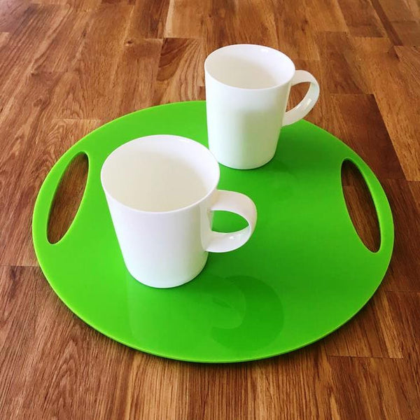 Round Flat Serving Tray - Lime Green