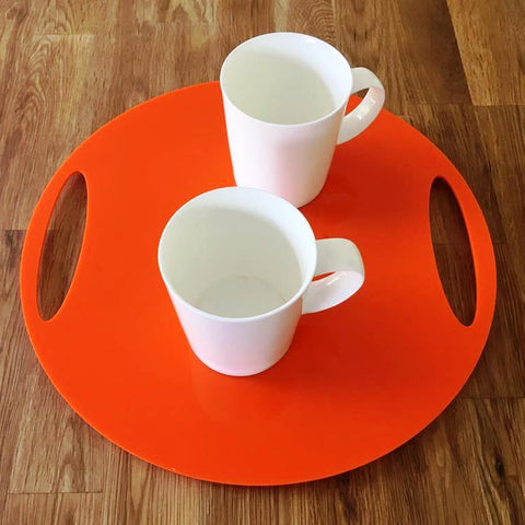 Round Flat Serving Tray - Orange