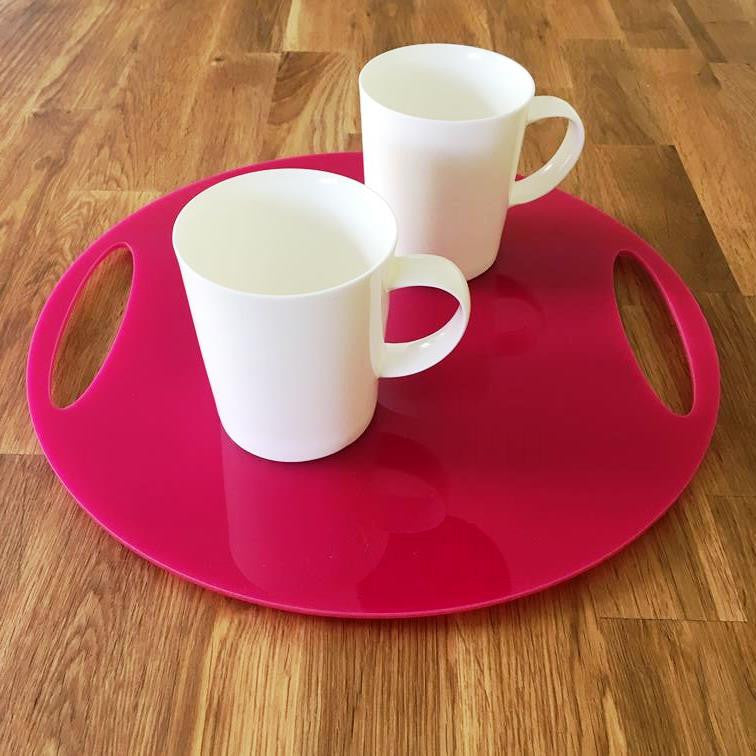 Round Flat Serving Tray - Pink