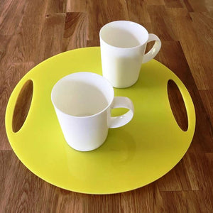 Round Flat Serving Tray - Yellow