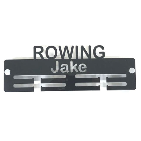 "Personalised ""Rowing"" Medal Hanger"