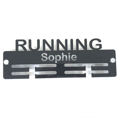 "Personalised ""Running"" Medal Hanger"