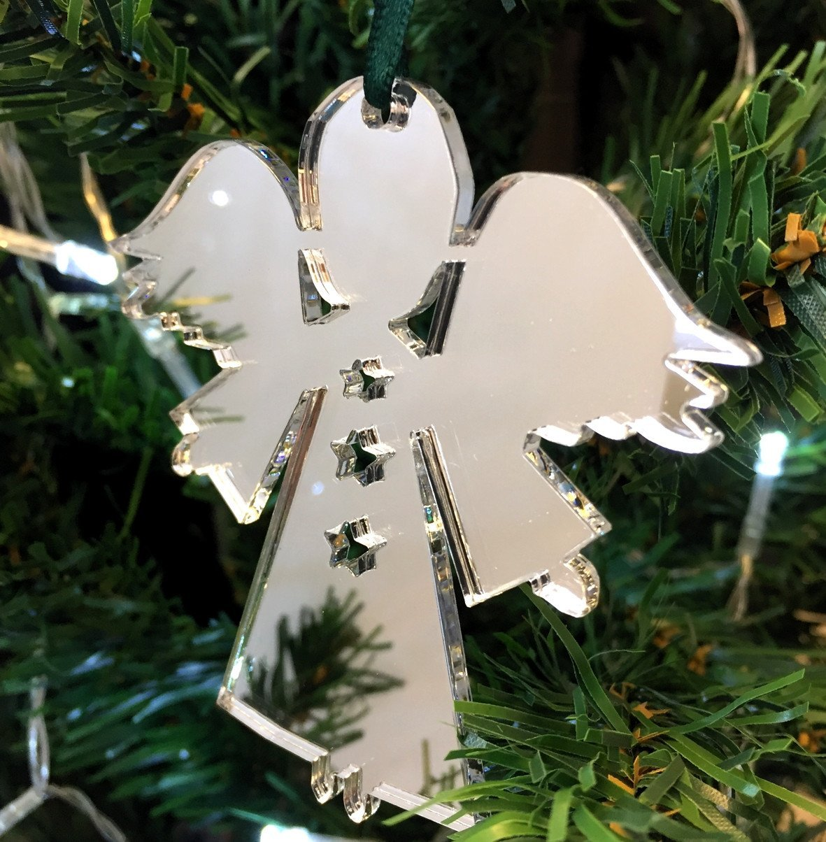 Angel Christmas Tree Decorations Mirrored