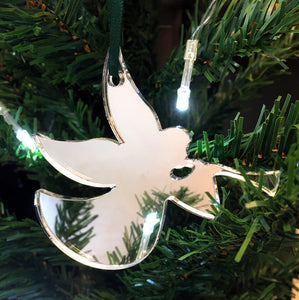Trumpeting Angel Christmas Tree Decorations Mirrored