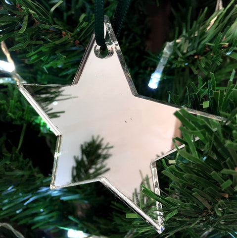 Star Christmas Tree Decorations Mirrored