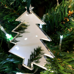 Christmas Tree Shaped Christmas Tree Decorations Mirrored