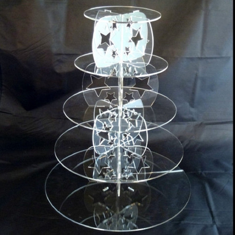 Five Tier Star Design Round Cake Stand