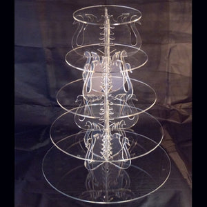 Five Tier Swan Design Round Cake Stand