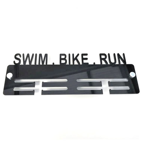 Swim, Bike, Run Medal Hanger