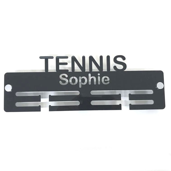 "Personalised ""Tennis"" Medal Hanger"