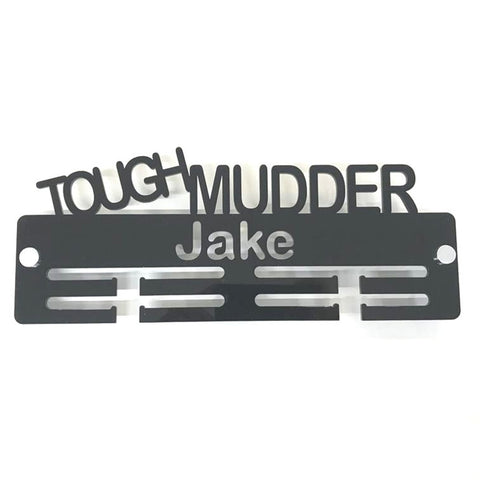 "Personalised ""Tough Mudder"" Medal Hanger"