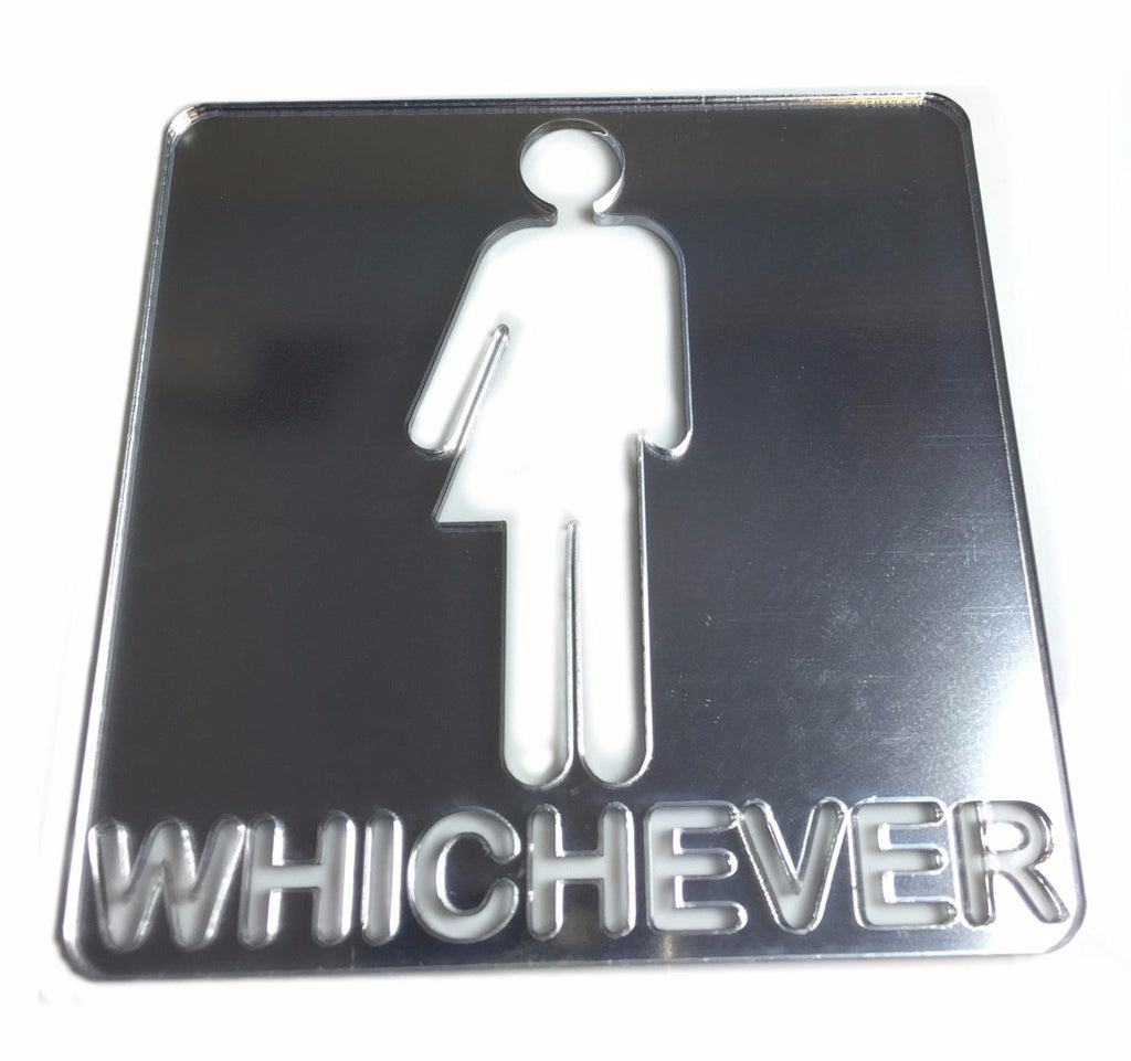'Whichever' Unisex Toilet Door Sign