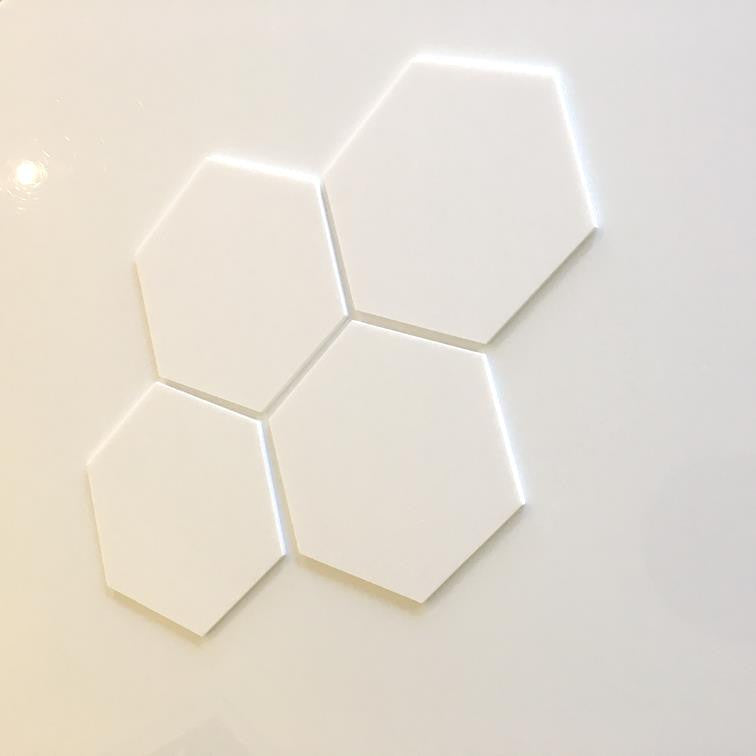 Hexagon Tiles - White