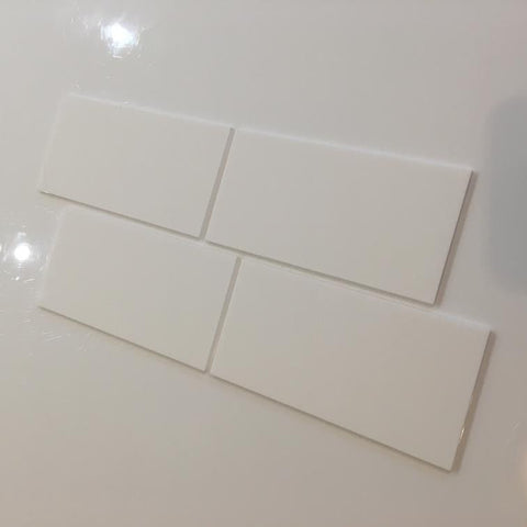 Rectangular Tiles - White