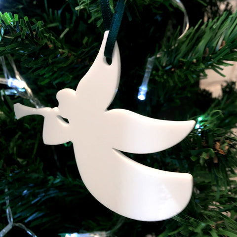 Trumpeting Angel Christmas Tree Decoration - Pack of Ten