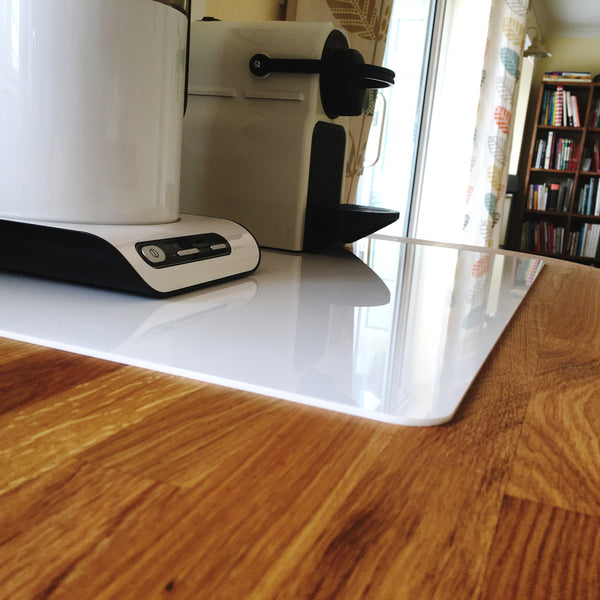 Rectangular Worktop Saver - White