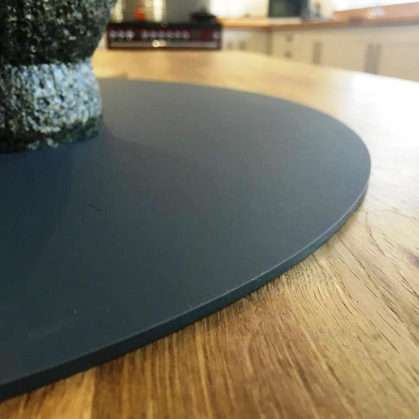 Oval Worktop Saver - Graphite Grey