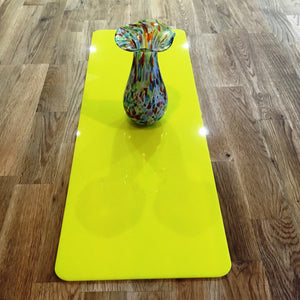 Yellow Rectangular Acrylic Table Runner