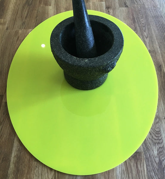 Oval Worktop Saver - Yellow