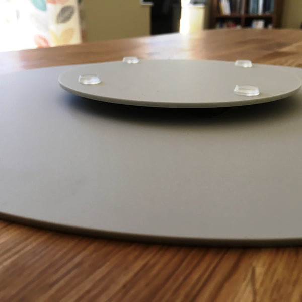 Light Grey Acrylic Lazy Susan