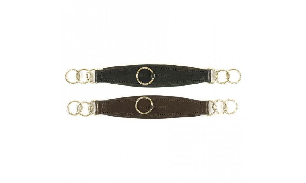 Camelot Leather Curb Strap Havana Brown in Color Horse Size