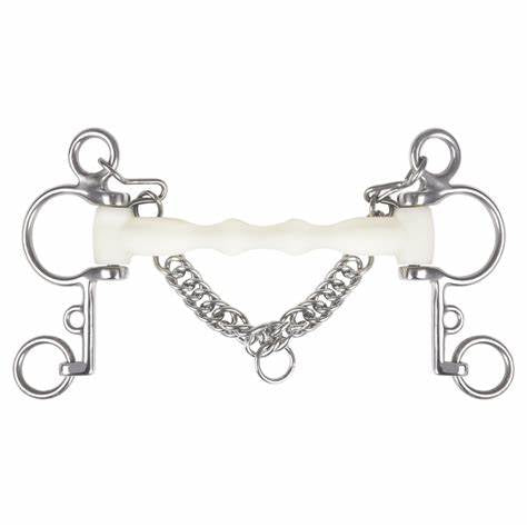 Pelham Bit French Link Hollow Mouth 13.5 Cm Stainless Steel Flat Link Bits