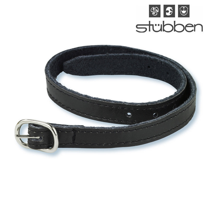 Stubben Black Leather Spur Straps