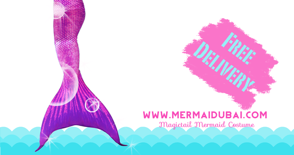 Get your Mermaid tail with free delivered at your doorstep in Dubai