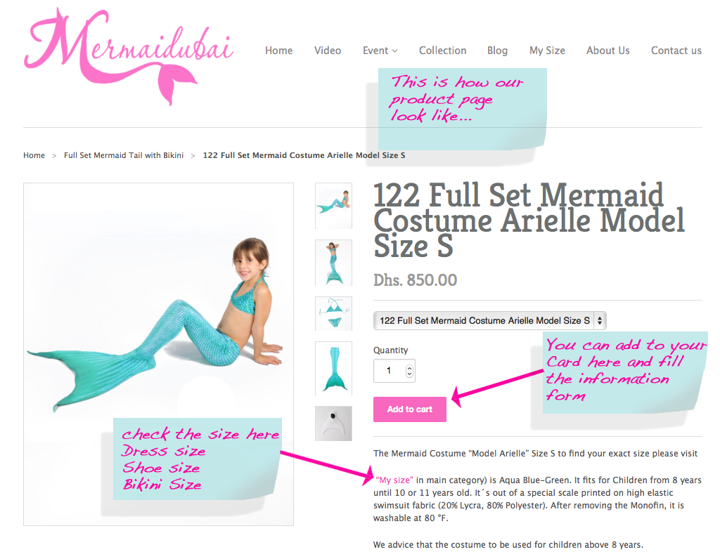 How to Buy a Mermaid tail to swim in? | Mermaid Dubai