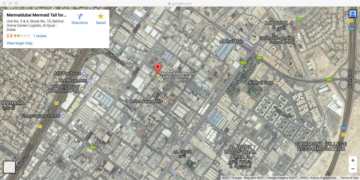 Location Map Mermaidubai
