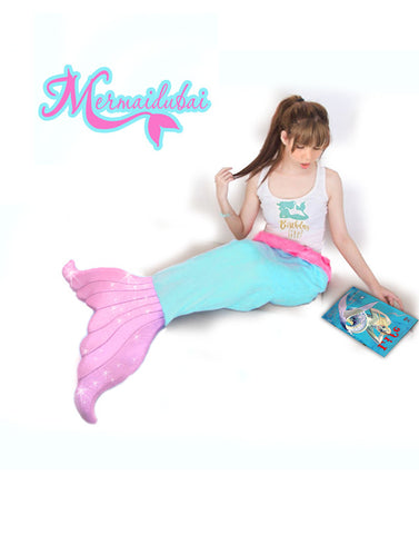 Mermaid Tail Blanket Aqua-Pink