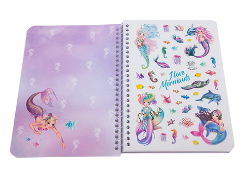 Pink Fantasy Model Mermaid stickers & Coloring Notebook