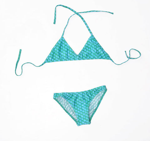 Bikini with mermaid skin pattern Size M