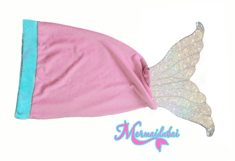 Pink-Silver Mermaid Blanket