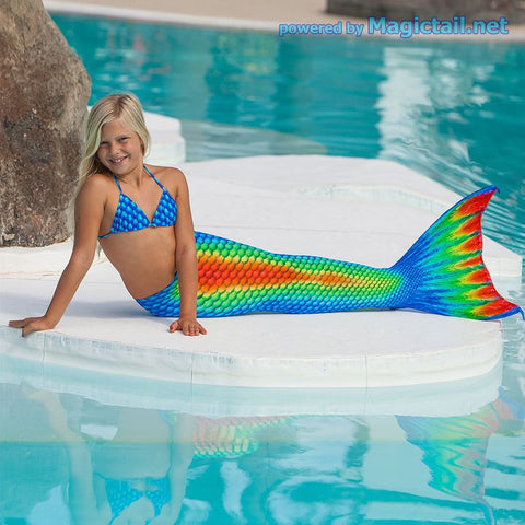 Rainbow Mermaid tail Size XS Full set