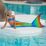 191-2- Rainbow Mermaid Tail Full Set Size M