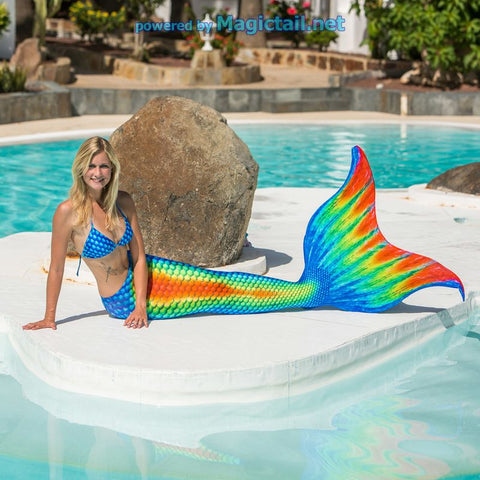 Rainbow Pro Mermaid tail Full Set size M