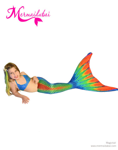 Rainbow Mermaid tail Full Set Size S