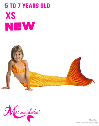 Mermaid tail H2O Full Set Size XS - 5 to 7 years old