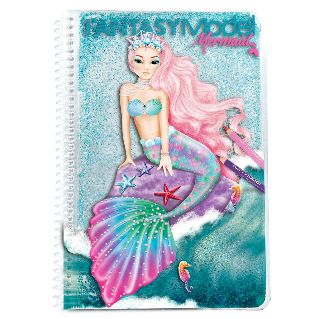 Fantasy TopModel Mermaid stickers & Coloring Notebook