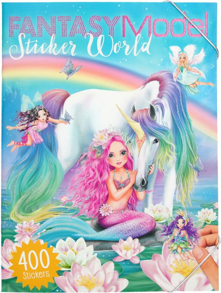 Mermaid & Unicorn Fantasy Model Stickers book-Dress Up me