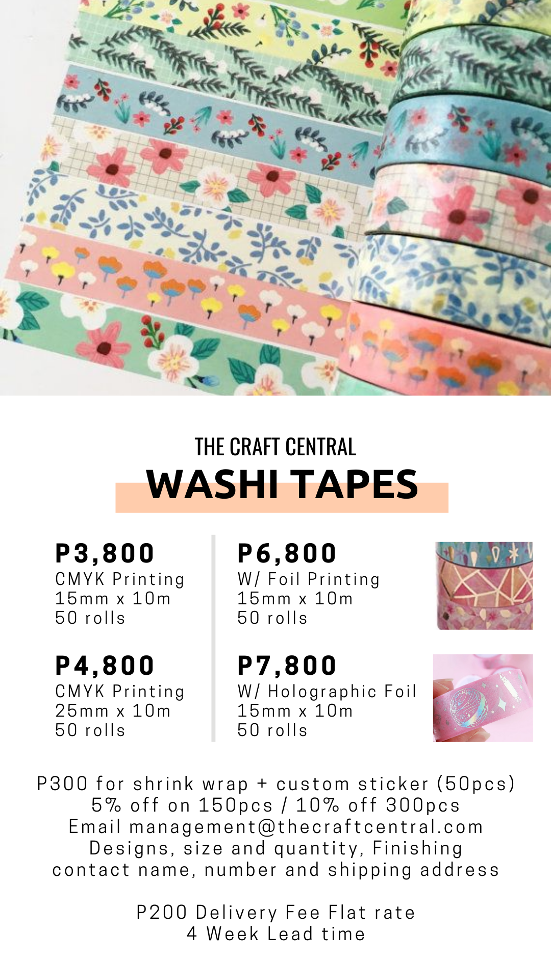 washi tape prices