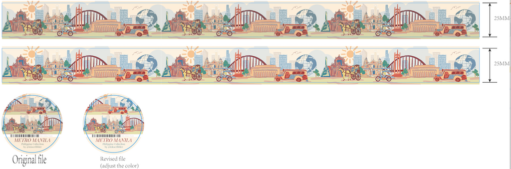 washi tape layout sample