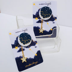 Moonlight Button Pin