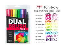 Tombow 10 Color Set Bright Pallette