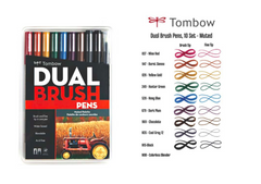 Tombow 10 Color Set Muted Pallette