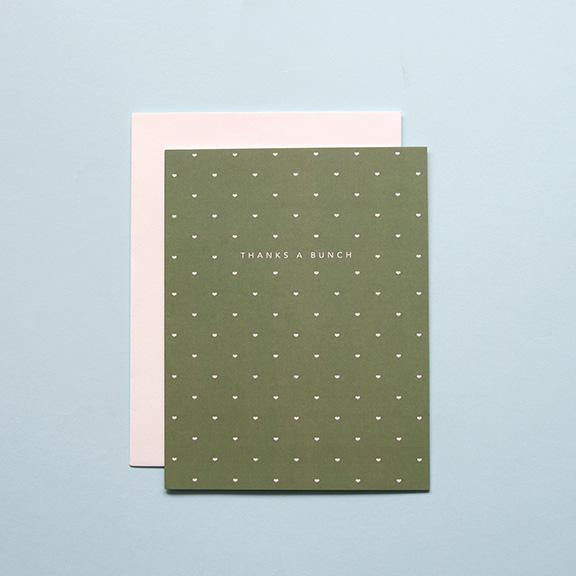 Folded Greeting Card - Thanks a Bunch by Design Hatch