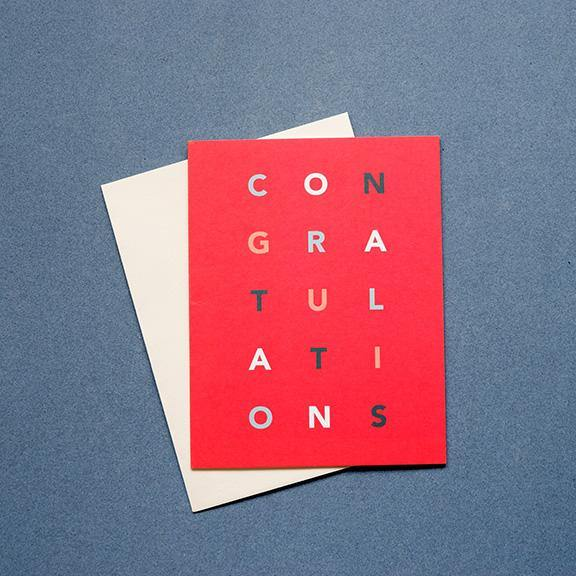 Folded Greeting Card - Congratulations by Design Hatch